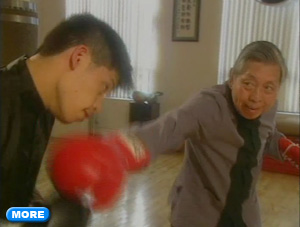 Max Chen and William Chen sparring